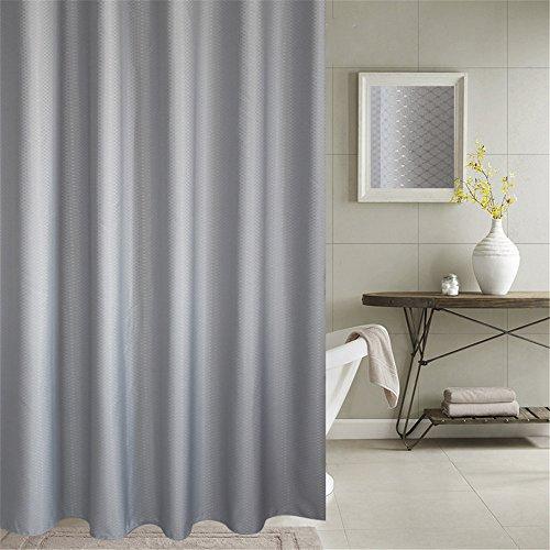 Lovedrop Duschvorhang Anti-Schimmel & Wasserdicht 100% Polyester Badezimmer Duschvorhang mit verstärktem Saum, mit Haken 120/150/180/200 x 200cm, Grau/Blau (180x200cm, Grau)
