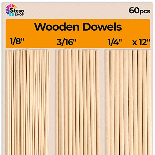 Wooden Dowel Rods for Crafts