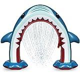 Rovtop Aufblasbare Arch Hai Sprinkler Kinder - Sommer Riesen Kinder Wasserspielzeug Outdoor für...