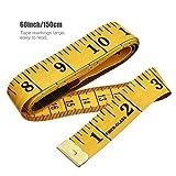 WA cuerpo medici/ón cinta amarillo 300/m Tailor Craft Flexible Ruler cinta m/étrica Da
