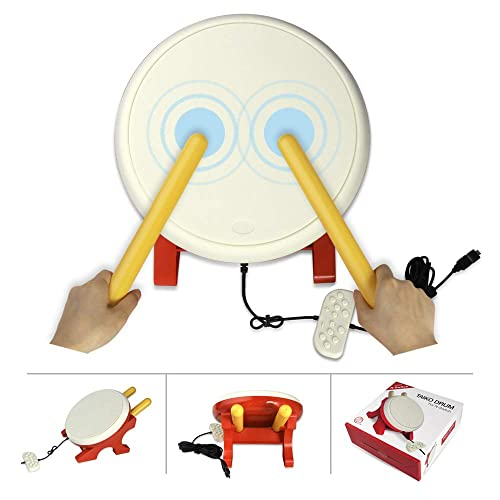 Finera Taiko Drum Compatible with N-Switch,Drum Controller Taiko Drum Sticks Video Games Accessories Compatible with Nintendo Switch Version