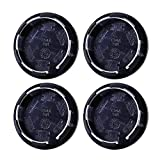 4 unids / set de plástico negro de 50 mm camiones de automóviles del vehículo Centro de ruedas del vehículo cubiertas cubiertas conjuntos de neumáticos Sin insignia Caps cubre accesorios para automóvi