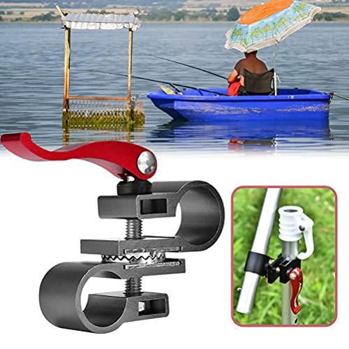 Gazaar Conector de soporte de paraguas de pesca aleación de aluminio silla de pesca soporte paraguas desmontable conector fijo accesorios para playa al aire libre