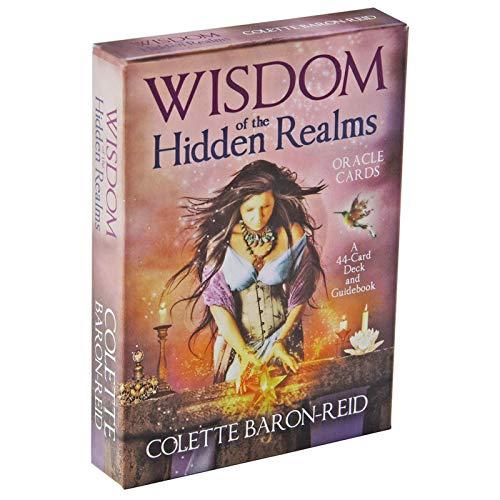 GUIMEI Cartas de la sabiduría de los reinos Ocultos Oracle: una baraja de 44 Cartas y una guía de Cartas Tablero de Cartas Adivinación Lectura Amor Luna Principiantes Reid N