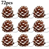 ZOYLINK 72 Stücke Weihnachten Hängende Ornamente Natrual Pinecone Christbaumschmuck Kinder Party Supplies