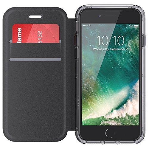 Preisvergleich Produktbild Griffin Survivor Clear Durchsichtige Hülle mit Wallet Cover für Apple iPhone 7 / 6s / 6 - Schwarz / Transparent