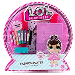Design a trendy fashion line: design a line of custom creations for your favorite L. O. L. Surprise! Character filled with cool patterns, textures and fun accessories Over 100 designs: mix and match the 14 double-sided rubbing plates to create over 1...