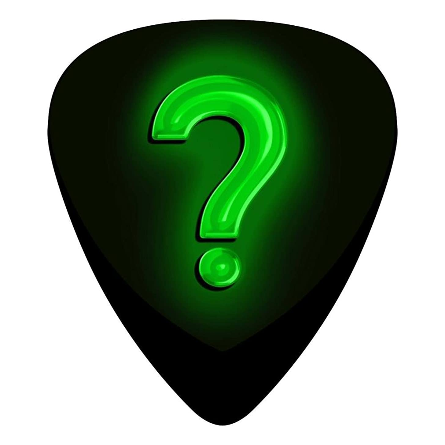 Guitar Picks Celluloid Question Mark Backgroud 12 Pack Shape For Acoustic Guitar Mandolin Electric Guitar And Bass