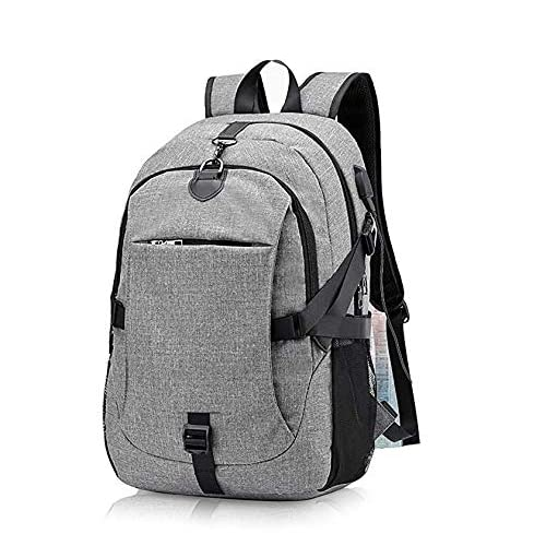 c4ea7c3073c7 Wearslim Unisex Polyester Synthetic Grey Waterproof Anti Theft Laptop  Bagpack with USB Charging and Listening Port