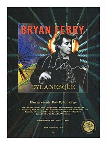 Bryan Ferry Signiert Autogramme 21cm x 29.7cm Plakat Foto