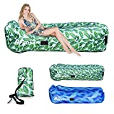 Inflatable Lounger, 3.0 Waterproof Air Sofa Hammock with Headrest, Leak-proof & Easy Inflation Design, Portable Lounge Chair, Ideal Couch for Backyard/Pool/Beach/Camping/Picnics/Travel/Music Festivals
