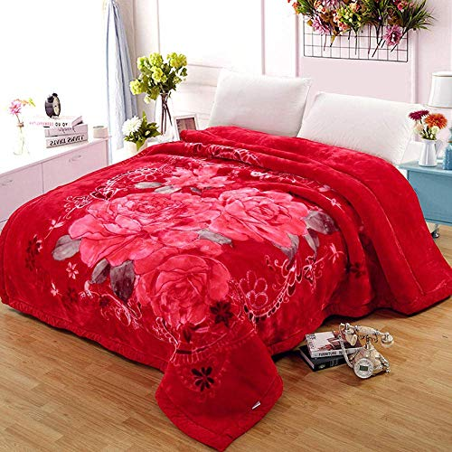 DZDZXQG Fleece Blanket with Sleeves & Foot Pocket,Extra thick double thick blanket winter warm plus velvet winter sheet quilt-150 * 200cm(2.5KG)_W