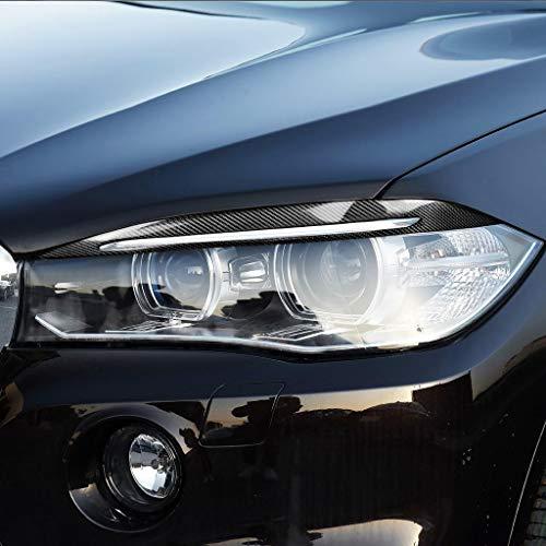Scheinwerfer-Spoiler 2 PCS-Carbon-Faser-Scheinwerfer Augenbraue und Augenlid Sticky nicht zerstörend Aufkleber, Geeignet for BMW X5 F15 2014-2018