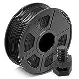 Filamento ABS 1.75mm Negro, Filamento de Impresión JAYO 3D 1KG 1 Carrete, Tolerancia +/- 0.03mm
