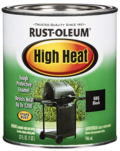 Rust-Oleum 7778502 Heat Protective Enamel, Quart 32-Ounce, Bar-B-Que Black Appliance Dining Features Kitchen Paint