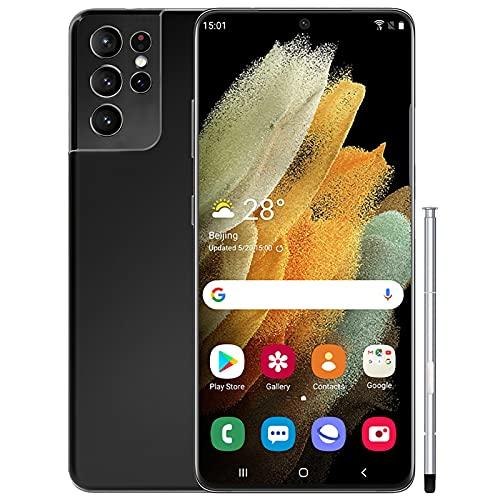 WYCF Note21U Teléfono Móvil, Smartphone de 6.9' (19: 9) Screen Movil, 4GB RAM + 128GB ROM, 18MP + 24MP, 4800mAh Batería, Android 10.0 4G Dual SIM Teléfono Libre,Negro
