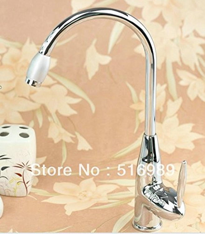U-Enjoy Beautiful Ship Bathroom Top Quality Sink Mixer Tap Polished Home Bathroom Kitchen Chrome Faucet (Free Shipping)