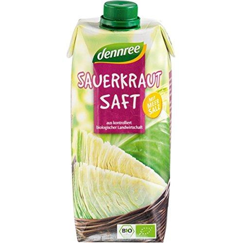 dennree Sauerkrautsaft, milchsauer vergoren (500 ml) - Bio