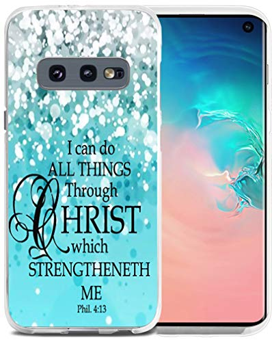 Case for S10E Bible Verse Protective - Case for S10E - CCLOT Cover Compatible for Samsung Galaxy S10E Christian (TPU Protective Silicone Bumper Skin)