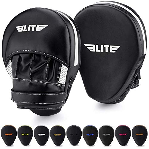 Elite Sports New Item Essential Curved Boxing, MMA, Kickboxing, Muay Thai, Sparring Punching Mitts, White