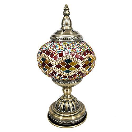 Bureaulamp Exotische Turkse Handgemaakte Nachtlampje MozaïEk Retro Lamp Romantische Geglazuurde Decoratieve Tafellamp