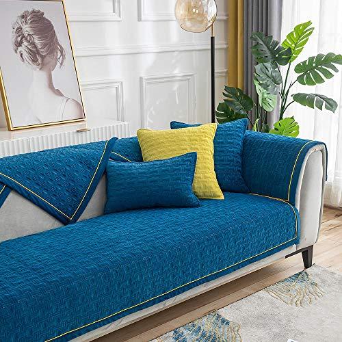 Suuki Protector para Sofás,sofá Protector de Muebles,Fundas de cojín de sofá súper Suaves de Color sólido,Funda de sofá cálida de Felpa,Toalla Protectora de sofá Antideslizante para Estudio/dormito