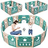 Baby Playpen, Dripex Foldable Kids Activity Centre Safety Play Yard Home Indoor Outdoor...
