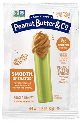 Peanut Butter & Co. Smooth Operator Peanut Butter Squeeze Packs, Non-GMO Project Verified, Gluten Free, Vegan, 1.15 oz (Pack of 200)