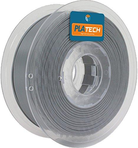 FFFworld 1 kg. PLA Tech Gris 2.85 mm. - Filamento PLA con bobinado de precisión Optiroll - pla filament