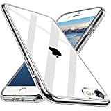 Wlife Crystal Clear Kompatibel mit iPhone SE 2020 Hülle, iPhone 8/7 Hülle, Transparent Stoßfest Anti-Gelb Anti-Kratzer Dünn Handyhülle Slim PC mit TPU Silikon Rahmen Durchsichtige Schutzhülle Hülle
