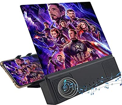 """Phone Screen Amplifier Phone Screen Magnifier Thin Foldable Mobile Phone Amplifier 3D Phone Screen Amplifier Mobile Phone Amplifier- 12"""" Inch Screen with Bluetooth Speakers for Movies and Gaming from Collectivedreamsinc"""