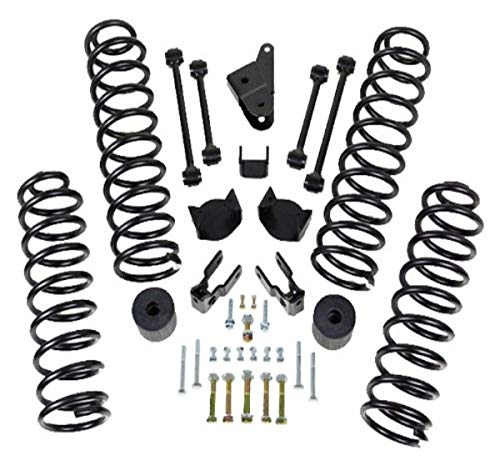 """ReadyLift 69-6400 4"""" Front and 3"""" Rear SST Coil Spring Lift Kit for Jeep Wrangler JK 2007-2011"""