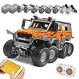 KEAYO Tecnología teledirigida Offroader 8x8, Mould King 13088, modelo todoterreno grande con motor, bloques de montaje MOC, compatible con Lego Technic