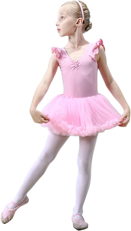 BESTORI Girls Ballet Dance Dress Tutu Skirted Leotard Gymnastics Outfit Dancewear
