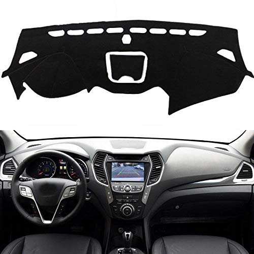 XHULIWQ Auto Armaturenbrett Abdeckung Anti-Rutsch-Sonnenschutz Pad Zubehör, Für Hyundai Santa Fe IX45 2013-2018