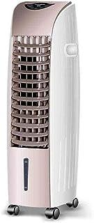 iferchers Enfriador de Aire Cuarto de Silencio Mudo Aire Acondicionado móvil Ventilador Doble Turbo Centrífugo Conducto de Aire Iones Negativos Tipo frío Tipo mecánico (Color: Blanco), Blanco