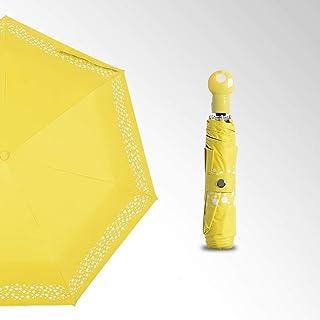 Automatic Color Changing Sun Umbrella Travel Umbrella UV Protection Sunshade Umbrella Folding Umbrella, Multi-Color Optional Gaozs (Color : Yellow)