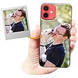 Coverpersonalizzate.it Cover Personalizzata per Apple iPhone 12 Minicon la Tua Foto, Immagine o Scritta - Custodia Morbida in TPU Gel Trasparente - Stampa di altissima qualità