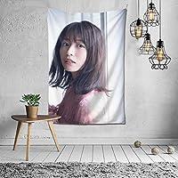 タペストリー 壁掛け 長濱ねる/ながはまねる Nagahama Neru/長濱禰留 壁飾り 家 リビングルーム ベッドルーム 部屋 飾り 装飾布 ホームデコレーション 多機能人気 おしゃれ飾り152X102cm