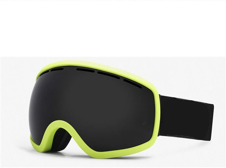 YHLL Ski Goggles, Adult Men And Women Fully Coated Ski Goggles Double Anti-fog Ski Goggles Cocker Myopia