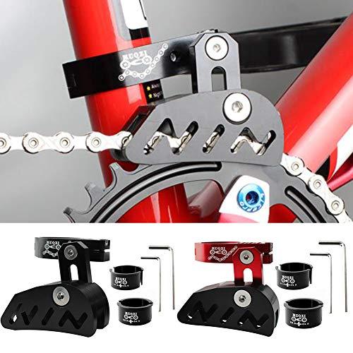 Kettenführung für Mountainbikes, Rennrad, Mountainbike, Kettenführung, Spanner mit hohlem Design für Einzelscheiben-Kettenrad, vorderes Zifferblatt, glattes Fahren, rot - 6