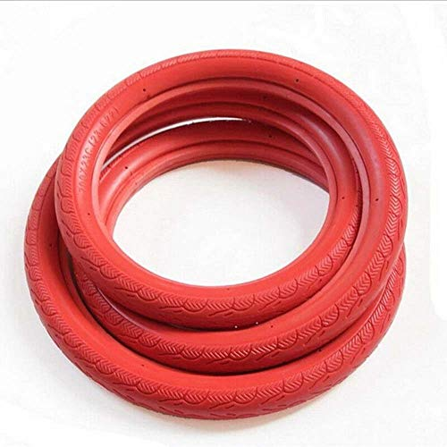 HUOFU Puncture-Proof Thorn-Resistant No-Flat Bicycle Tubes, Road Bicycle Tire, Fixed Gear Bicycle Solid Tires 700x23C, MTB Road Bike Bicycle Tire(red)