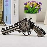 junfeng Cartoon Alarm Clock Pistol Gun Shape Alarm Clock Desktop Bedside Home Office Decoration Gift Supplies Present