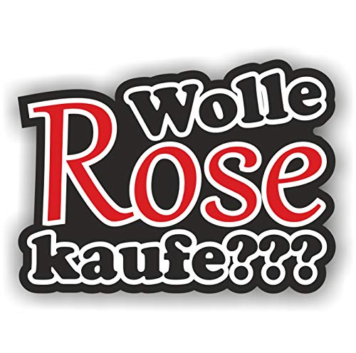 folien-zentrum 1x Wolle Rose Kaufe??? 9 x 12 cm Aufkleber Tuning 143 Shocker Auto JDM OEM Dub Decal Sticker Illest Dapper Oldschool Folie