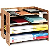 Tonsmile File Sorter A4 Document Desk Tidy Organiser Storage Rack Tray Holder Office Stationery Supplies