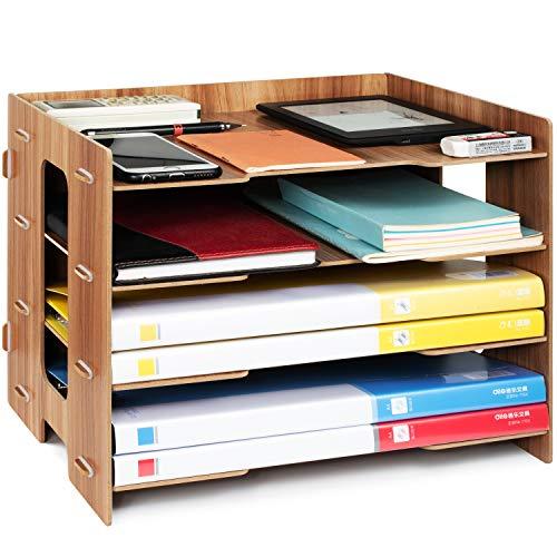 Tonsmile Dokumentenablage Holz Briefablage Papierablage A4 Ablage Ablagesystem für Büro Papier Brief