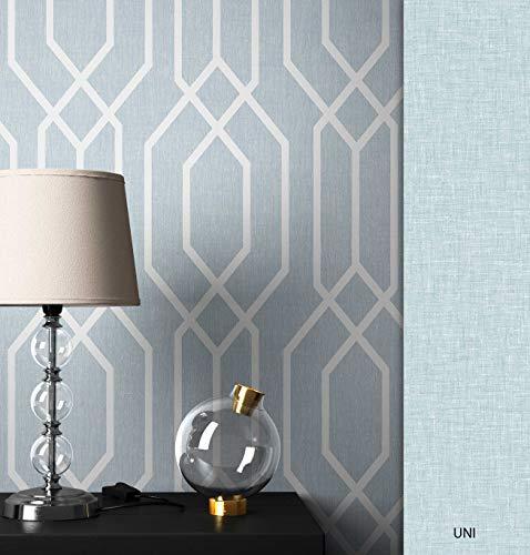 NEWROOM Tapete grafisch türkis Linien Retro Papiertapete Papier Tapete Geometrisch Art Deco inkl. Tapezier Ratgeber ǀ Grafik
