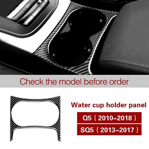 Auto Styling Interieur Kohlefaser Wasser Becherhalter Panel Trim Aufkleber Aufkleber,für Audi Q5 (2010-2018) SQ5 (2013-2017) Auto Zubehör