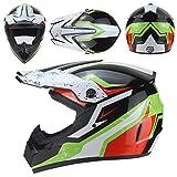 Dgtyui Casco moto off-road per moto off-road per adulto moto fuoristrada ATV downhill mountain bike DH casco racing casco cross casco - Nero 11 X XL