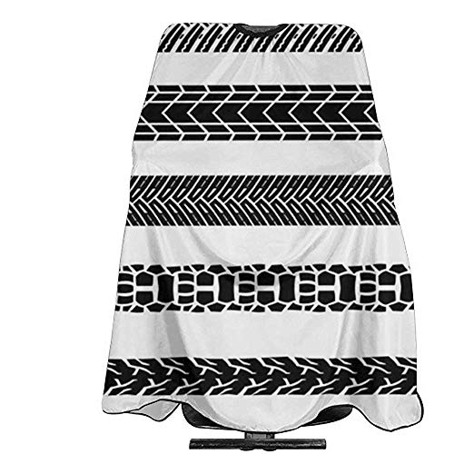 Kapsel Schort Motorfiets Tire Tracks Haar Styling Haar Snijden Kapsel Aprons Bewijs Kapper Salon Kleurplaten Perming Gown Professionele Kapper Cape